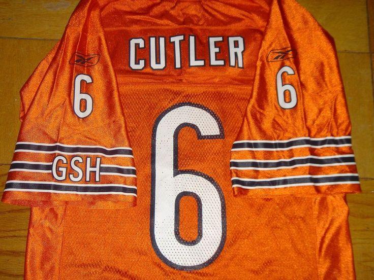 Chicago Bears Jersey 6 Jay CUTLER Orange NFL Authentic Reebok GSH Size Small 46 #NFL #Jerseys