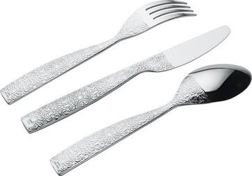 """Alessi """"Dressed"""" 24-Piece Cutlery Set transitional-flatware"""
