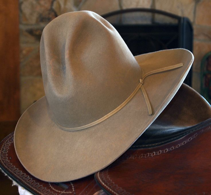 Resistol cowboy hat, from Greer Western Wear in Ranger Texas.