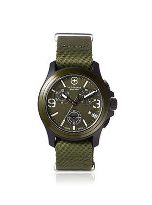 39% OFF Victorinox Swiss Army Men's 241531 Original Green Canvas Chronograph Watch