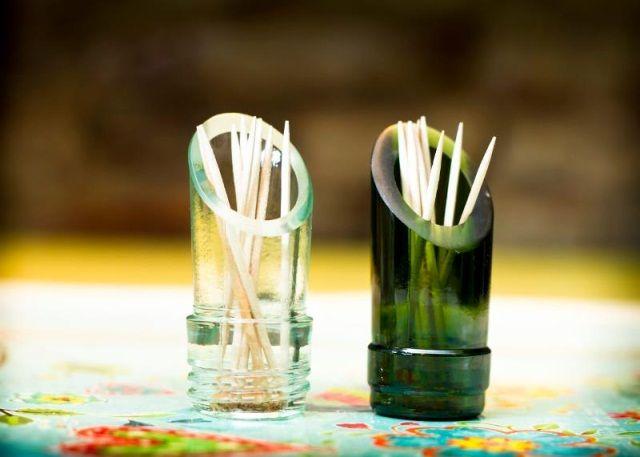 Reutilizando picos de botellas | Botellas de vidrio recicladas ...