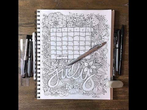 July Calendar 2016 - YouTube