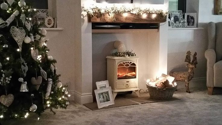 Christmas fire Place Decoration Wood burner Country