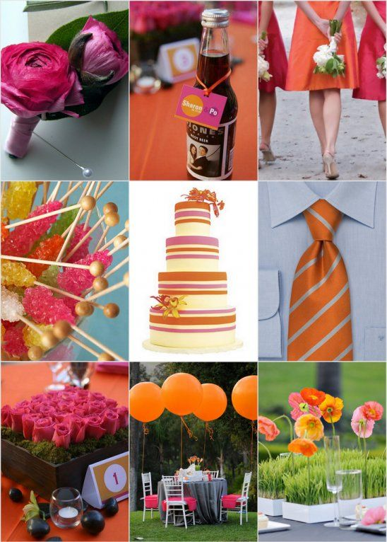 45 best pink orange wedding images on pinterest casamento pink spring and summer wedding themes ideas junglespirit Image collections