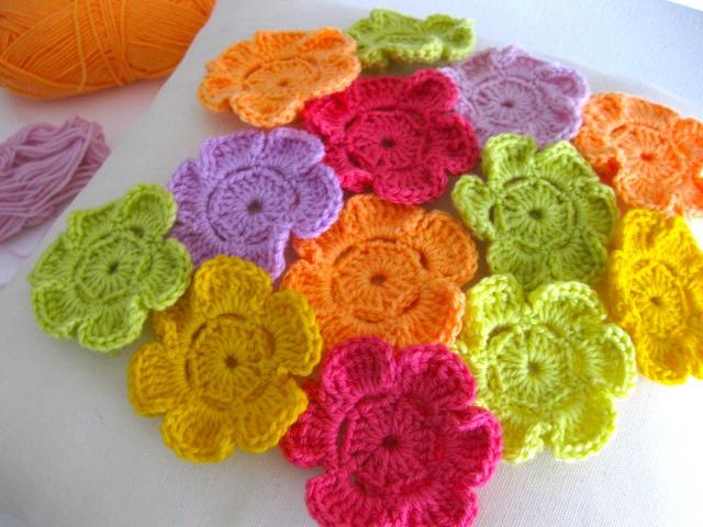 Field Of Crocheted Flowers Fields Flower And Crochet