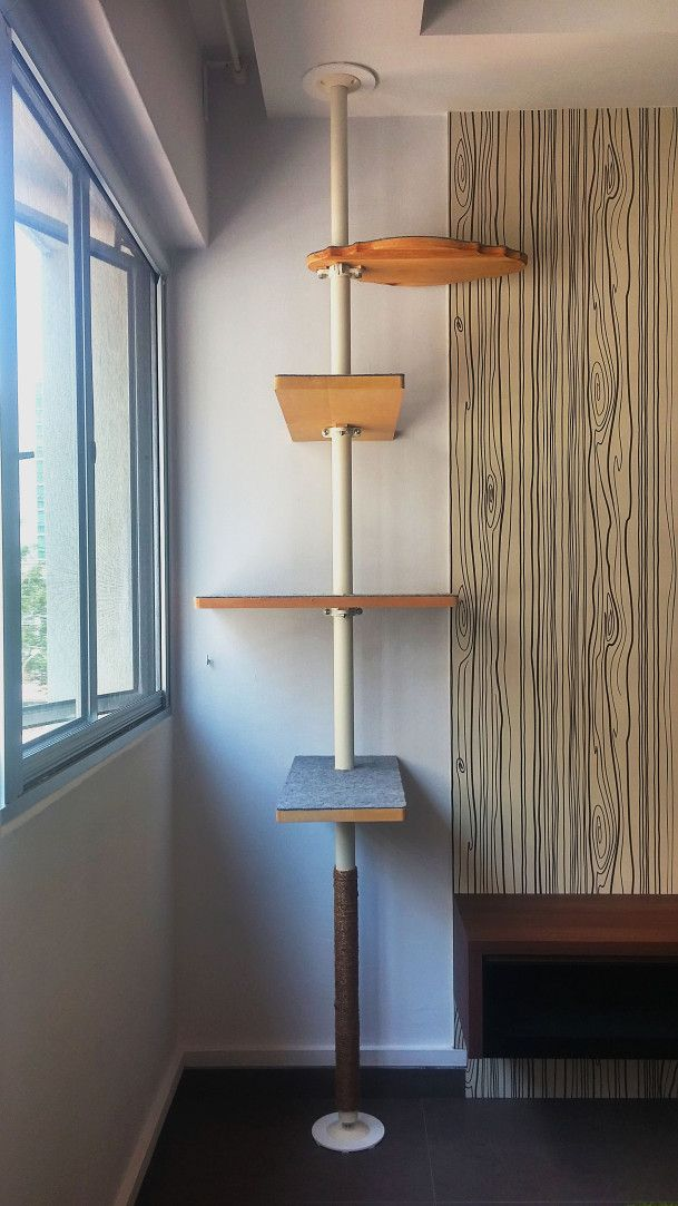 Diy cat tree with ikea stolmen pole pinteres - Modern cat tree ikea ...
