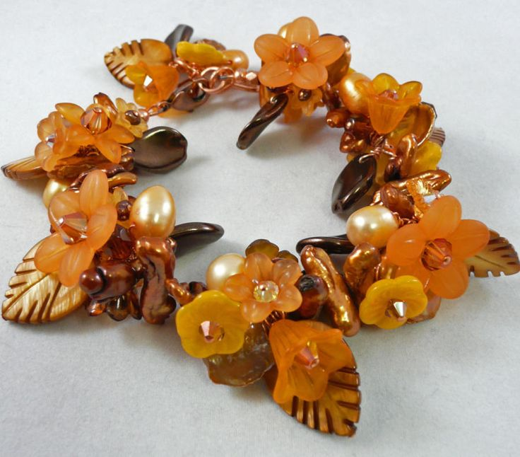 Amber Leaves - Jewelry creation by Madalynne Homme