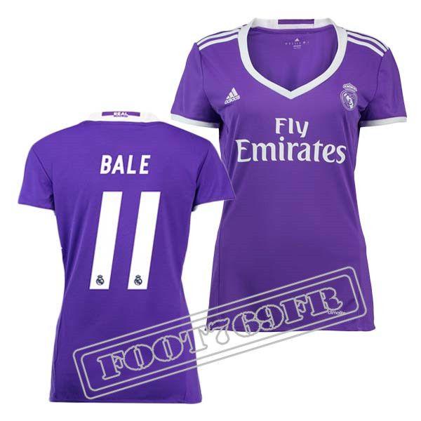 Promo Maillot Du Bale 11 Real Madrid Femme Violet 16/17 Exterieur : La Liga