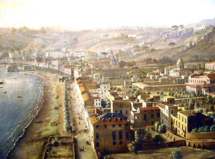 """Riviera di Chiaja and Posillipo"" (Detail) - ""View of Naples with the District of Chiaia from Pizzofalcone"" (early 18th century) by Gaspar van Wittel (Amersfoort 1653-Rome 1736) - The Museum of Zevallos Stigliano Palace in Naples."