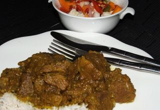 Cape Malay Lamb Curry using Spice Fusion's Cape Malay Curry Blend.