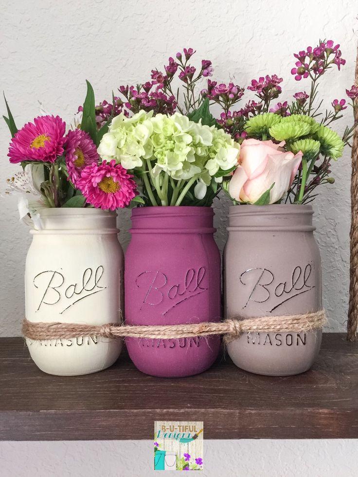 Mothers Day Gift. Mothers Day Mason Jars. Mason by BUtifulDesigns
