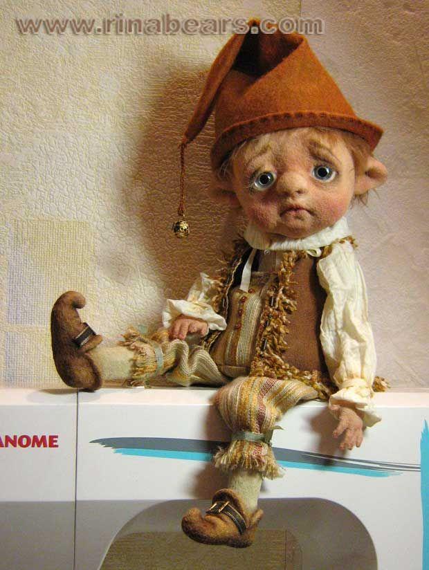 Гном Мэлвин - Авторская игрушка Рины Буше