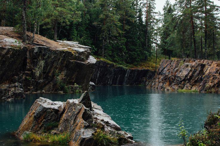 Öster Silvbergs gruva - Flooded silver mine Säters kommun Dalarna Sweden. [5598x3732] [OC]