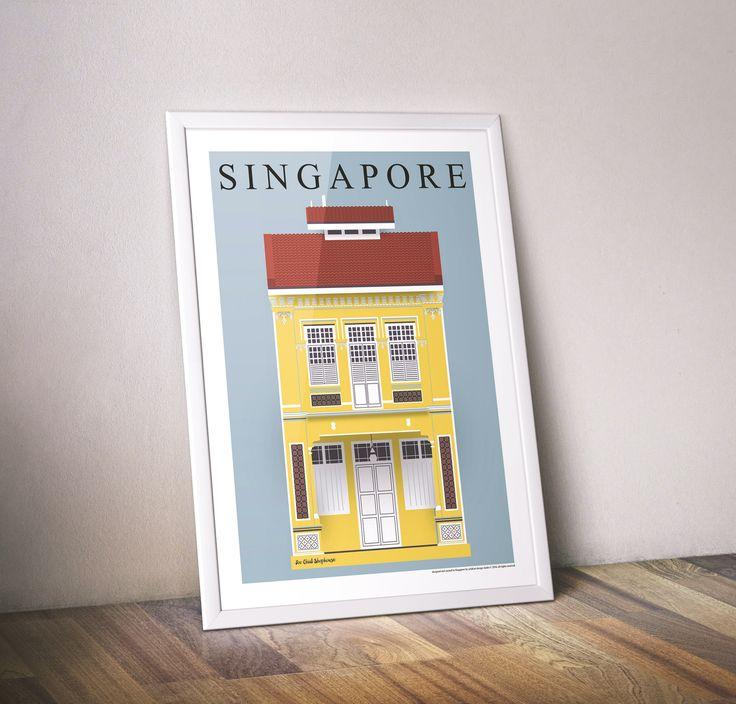 Joo Chiat Shophouse (Fine Art Print) / eck&art design studio