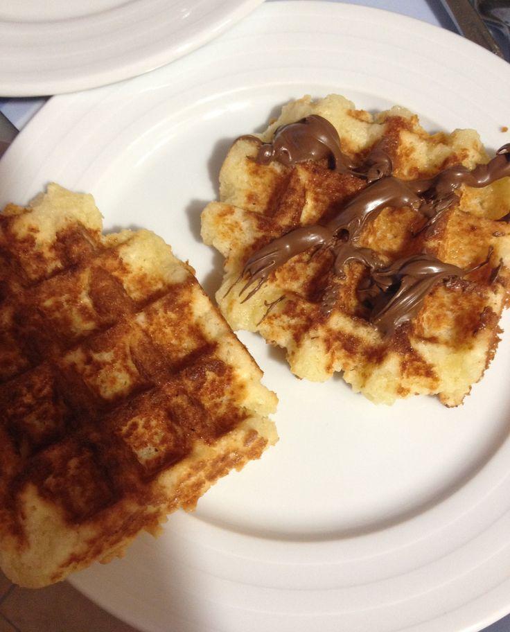 Waffles, wafles o gofres sin gluten paso a paso