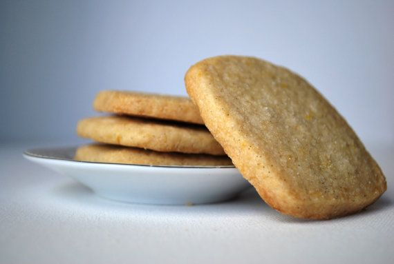 Lemon Zest Shortbread Cookies by BlueSparrowTea on Etsy, $12.00