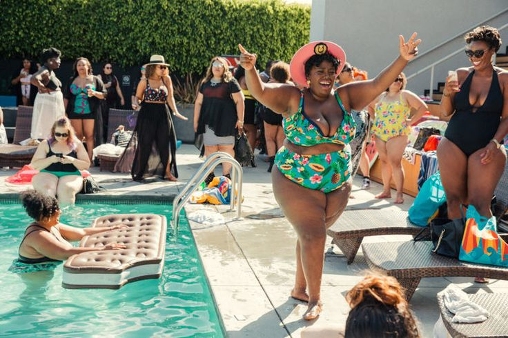 The pool party in shrill and what it's like to be surrounded by half