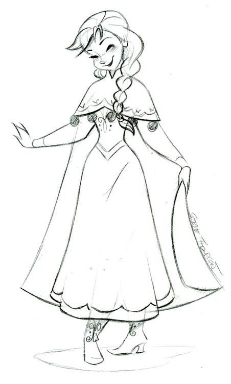 Steve's Anna from #Frozen sketch. Are you following his Facebook page? https://www.facebook.com/artofstevethompson