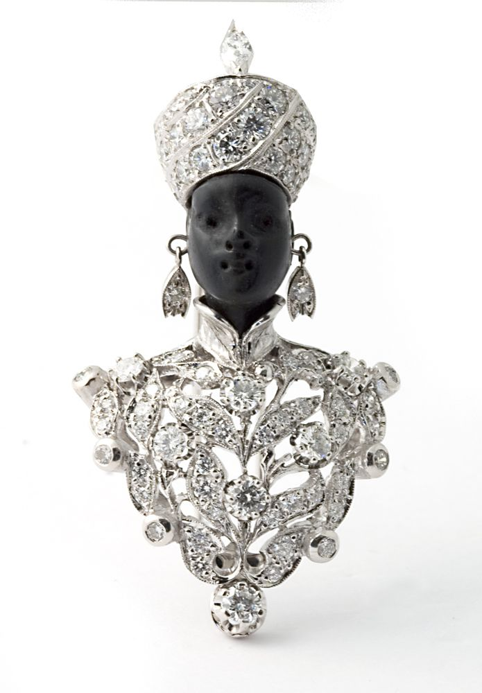 """Nardi. Venezia, Italy. """"Moretto Albero della Vita """" brooch with diamonds"""