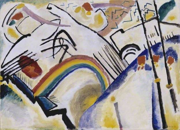 Cossacks (Cosaques) by Wassily Kandinsky Tate      Date painted: 1910-11     Oil on canvas, 94.6 x 130.2 cm     Collection: Tate