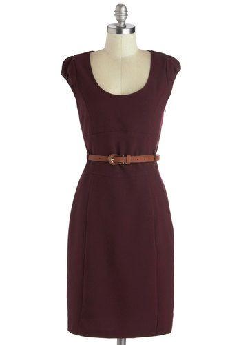 Oh My Posh Dress in Burgundy, #ModCloth