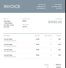 Image result for invoice samples