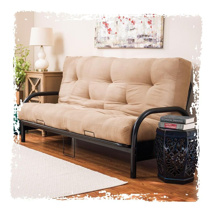 Find Special Discounts On Black Futon Frame With Camel Futon Mattress Set  At Big Lots.