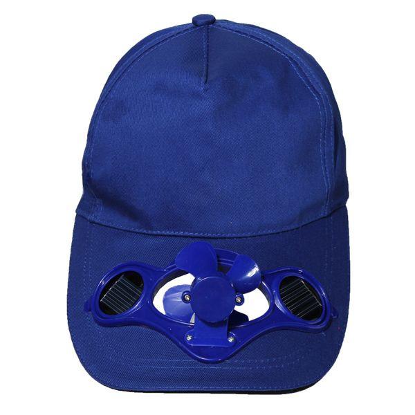 2017 Novelty Sun Solar Power Hat Cap with Cooling Fan for Outdoor Golf Mountain Climbing Baseball Hats