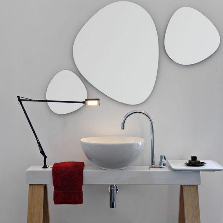 127 best images about salle d 39 eau salle de bain sur for Miroir magique au mur