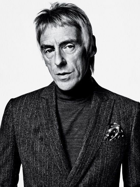 So stylish it hurts! Mr Paul Weller wearing John Smedley Belvoir sweater, $300; mrporter.com. John Varvatos jacket (sold as suit), $1,595; johnvarvatos.com. His own pocket square.