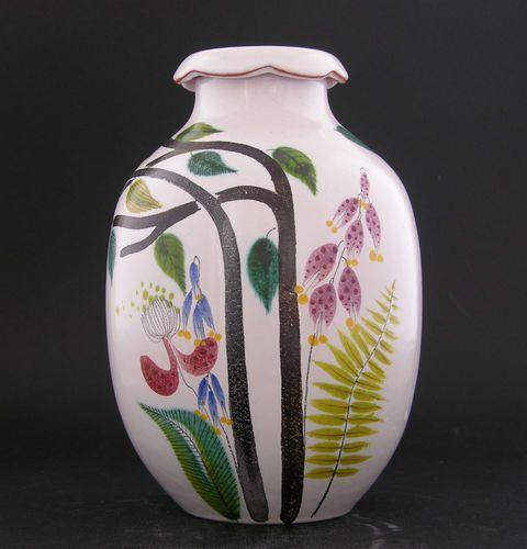 STIG Lindberg Gustavsberg Outstanding Faience Vase with Stunning Glaze | eBay