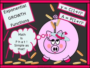"""The following lesson offers instruction in the application of the Exponential Growth model including compound interest. * Students learn about required factors in the exponential growth models * Students become familiar with how to use the """"growth factor"""" within the exponential growth model *"""