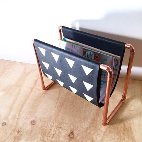 DIY Kit: Copper Magazine Rack