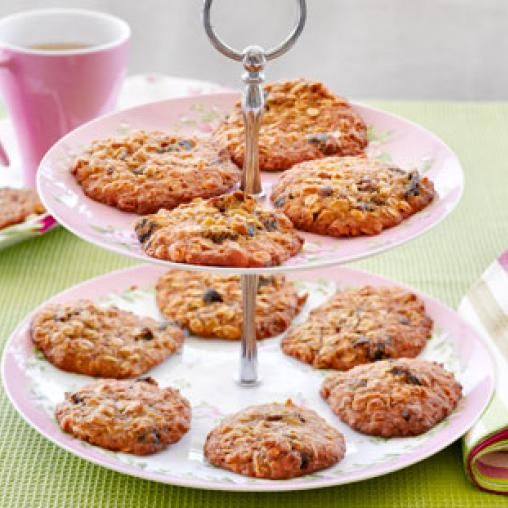 Chewy honey oatmeal biscuits