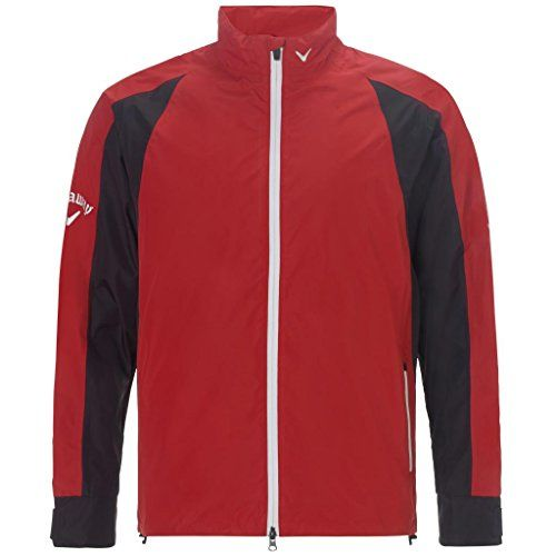 2015 Callaway Green Grass Weather Series Mens Waterproof Golf Rain Jacket Salsa XSmall >>> You can get more details by clicking on the image.