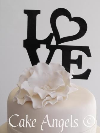 Stacked Love with Single White Rose