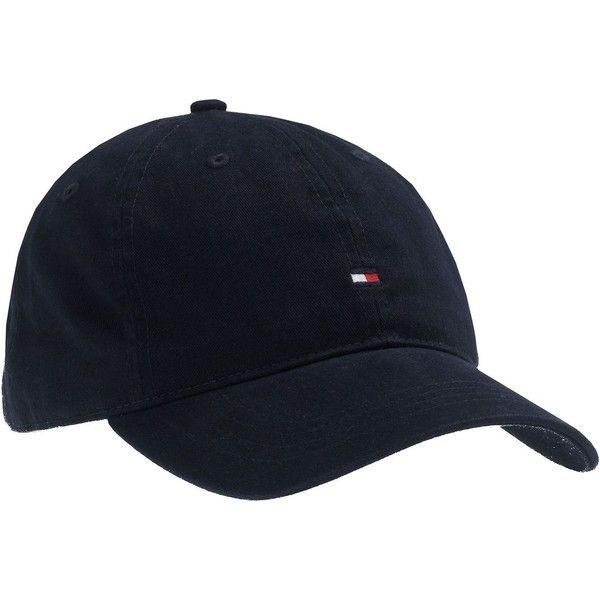 Tommy Hilfiger Baseball cap with small logo (114.250 COP) ❤ liked on  Polyvore featuring accessories b520e88417a