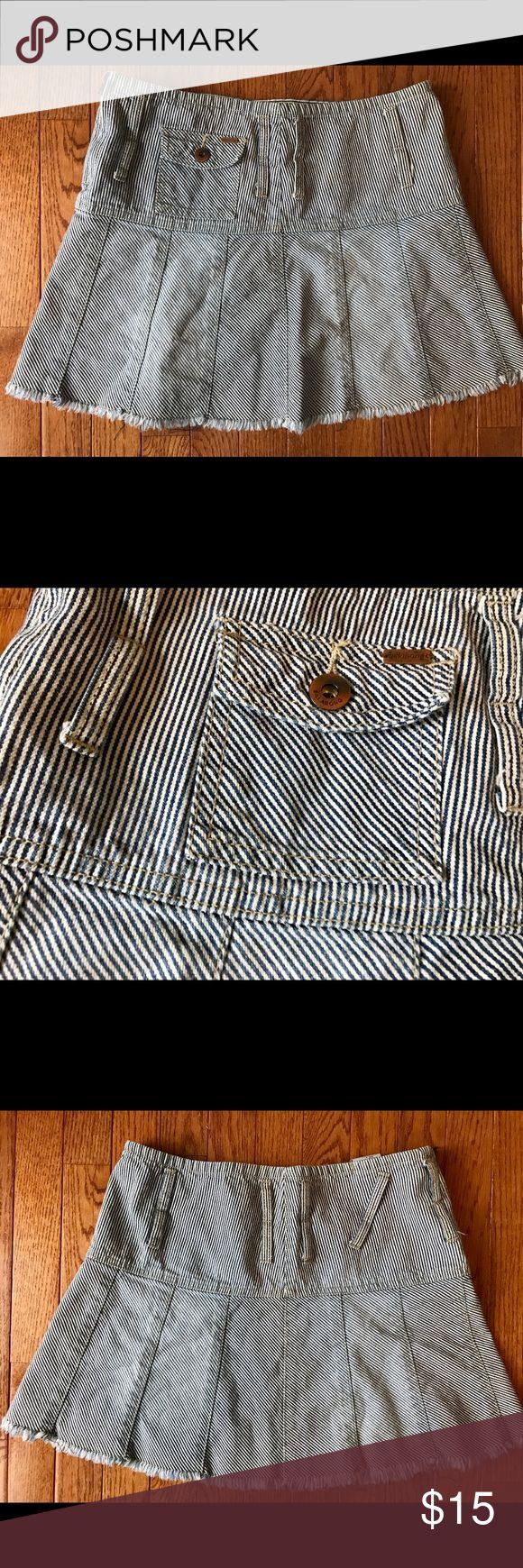 Billabong striped mini skirt Jean skirt, blue and white stripped. Billabong Skirts Mini