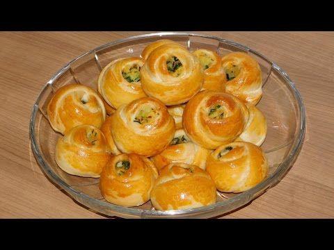 """Булочки """"розочки"""" с картофельной начинкой по турецки. Турецкие пирожки розочки. - YouTube"""