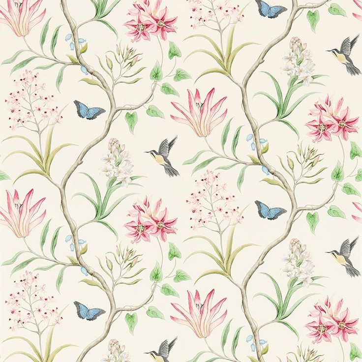Sanderson Clementine DVOY213388 (Chintz) wallpaper from the Voyage of Discovery collection, priced per roll.