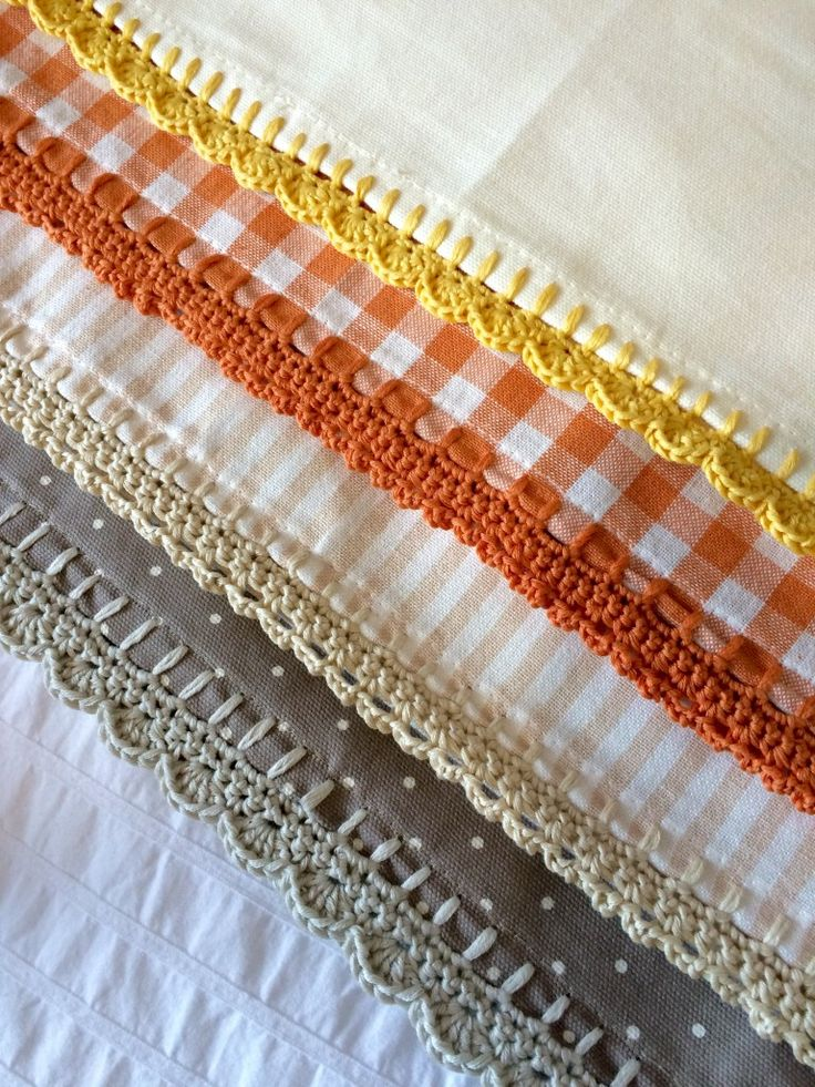 Crochet with Kate: edging for tea towels on the LoveCrochet blog ༺✿ƬⱤღ✿༻