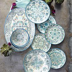 Veracruz Blue Melamine Dinnerware Collection