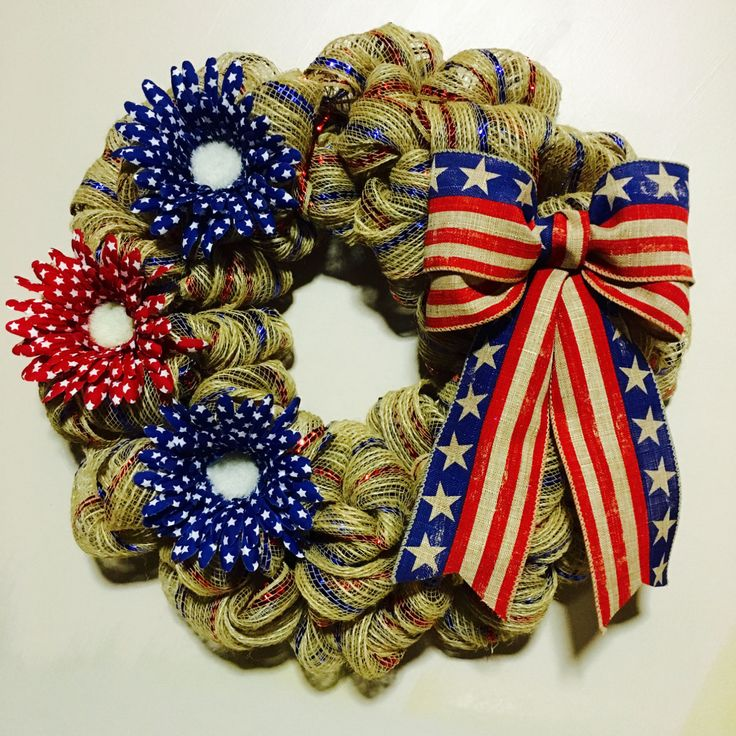 Patriotic Wreath, 4th of July Wreath, Labor Day Wreath, Memorial Day Wreath