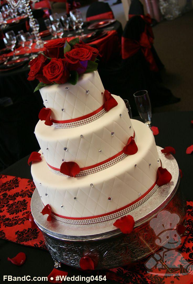 "Design W 0454 Fondant Wedding Cake 14""+10""+6"" Serves"