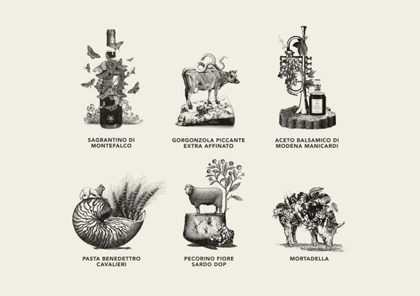 Victor Russo's Osteria by Total Identity, via Behance