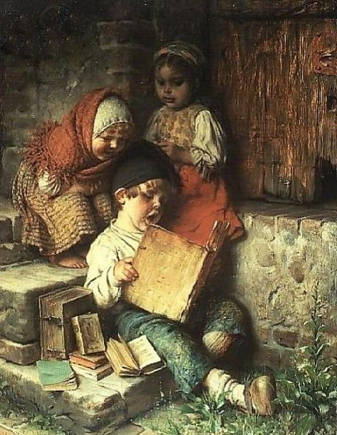 """""""The Song Book"""" ~ by Hermann Kaulbach (1846 – 1909, German)"""