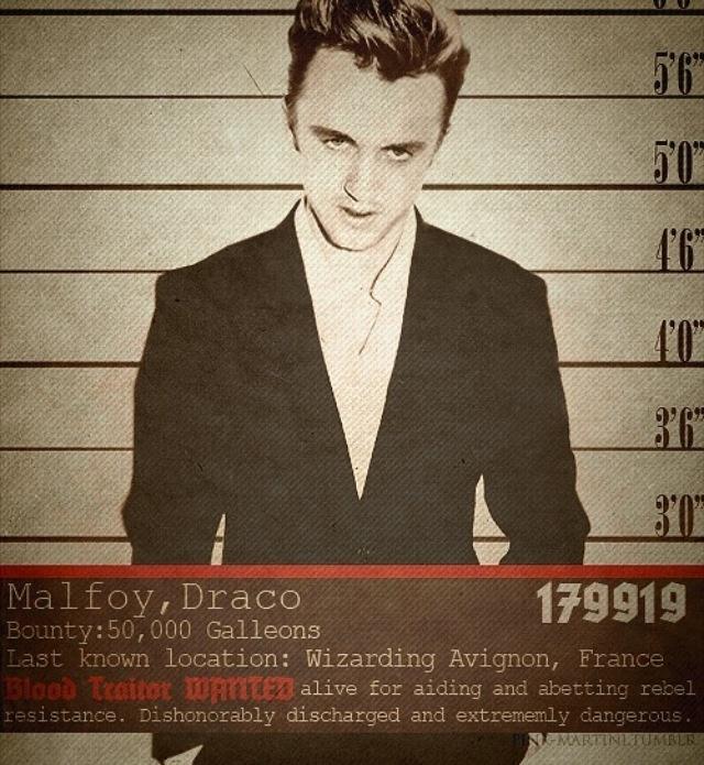 draco malfoy wanted poster draco malfoy pinterest