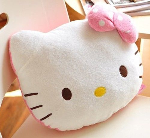 Cute Hello Kitty Plush Back Cushions Car Office Lumbar Support Throw Pillow Cars, Offices and ...