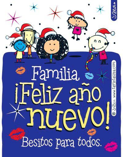 Feliz año nuevo para la familia-Bichos Zea bailando © ZEA www.tarjetaszea.com