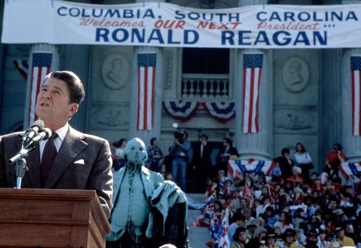 Magnum Photos Gilles Peress USA. Columbia, North Carolina. 1980. Ronald REAGAN campaigns for the 1980 presidential election